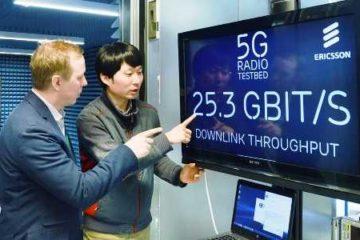 хуавей представляет сеть Gbps 5G