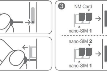 Установка SIM и SD-карт на смартфоны Huawei и Honor